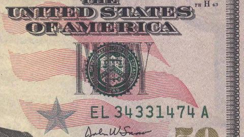 American Dollar Bill Money Sequence Clip Animation