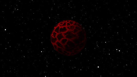 Abandoned and Destroyed Planet explode in space Animation