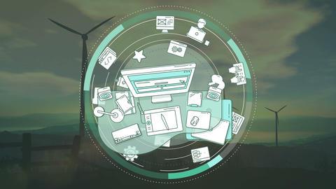 Design promotion background Animation