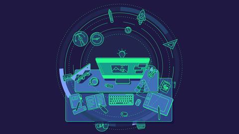 Animation illustrating the design profession Footage