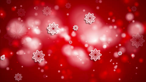 Bright red abstract shiny Christmas video animation Animation