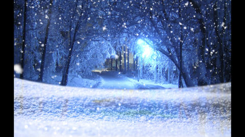 Magical Snow - Snow Christmas Video Background Loop Animation