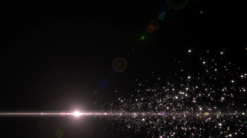 Lens Flares and Particles 16 K4 4k Animation