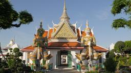 Temple at Wat Arun temple,Bangkok,Thailand Footage