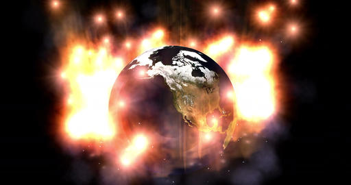 Digital Particle Animation of the Earth Animation