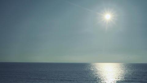 Sun and sea and blue sky Footage