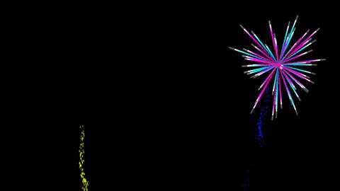 Fireworks alpha transparence background loop vs2 Animation