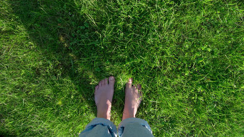 Happy feet dance POV - stop motion timelapse - summer... Stock Video Footage