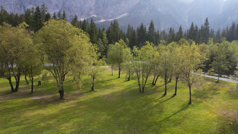 Aerial - Tranquil scene in highland nature Live Action