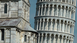 Italy Tuscany Tower of Pisa 06 gable and tower in close up Footage