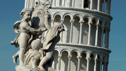 Italy Tuscany Tower of Pisa 23 religious monument and tower close up Footage