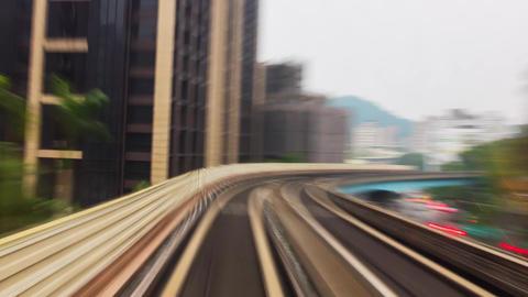 POV Train Hyperlapse - Motion Speed Timelapse Taipei, Taiwan 影片素材