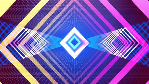 Flying Tunnel Geo Light Retro 09 Animation