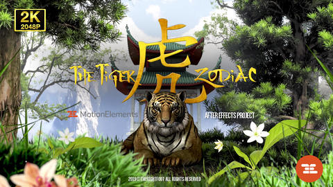 ZODIAC The Tiger Logo After Effects Template