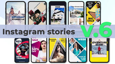 Instagram Stories v 6 After Effects Template