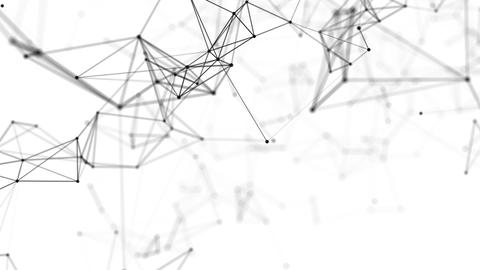Interweaving black and white points and lines Animation