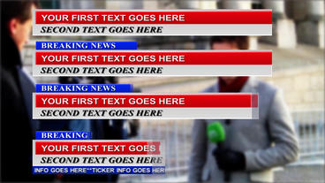 Breaking News Lower Thirds After Effects Template