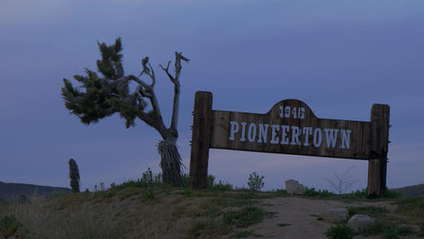 Historic Pioneertown in California in the evening - CALIFORNIA, USA - MARCH 18 Footage