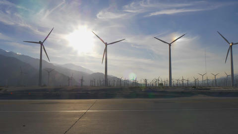 The windmills of Palm Springs in California Archivo