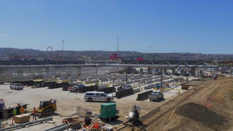Mexican Border at San Ysidro California - CALIFORNIA, USA - MARCH 18, 2019 Live Action