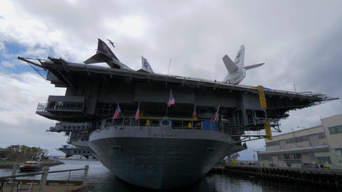 USS Midway museum historic aircraft carrier - CALIFORNIA, USA - MARCH 18, 2019 Footage