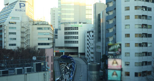 Cityscape at the office building in business district in Shibuya Tokyo high Footage