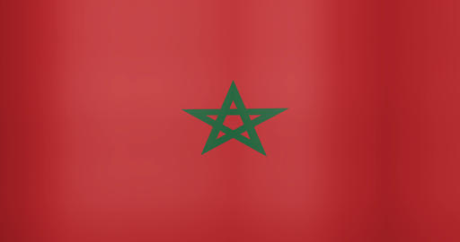 Waving Flag of Morocco Looping Background Live Action