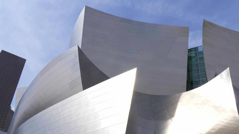 Modern architecture of Disney Concert Hall in Los Angeles - CALIFORNIA, USA - Footage