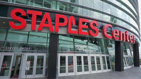 Staples Center Arena at Los Angeles Downtown - CALIFORNIA, USA - MARCH 18, 2019 Live Action