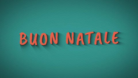 "Text with shadows on blue background ""Buon Natale"" Live Action"