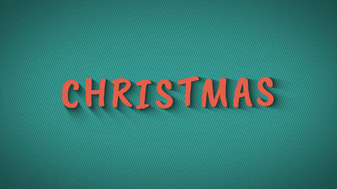 "Text with shadows on blue background ""Christmas"" Live Action"