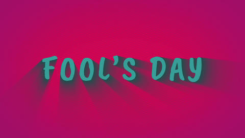 """Text with shadows """"Fool's Day"""" Footage"""