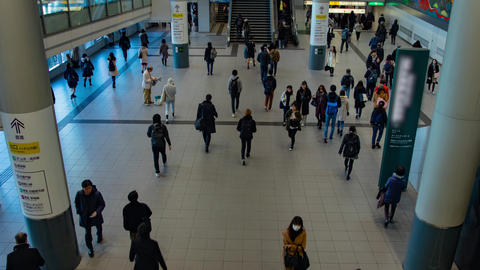 Walking people at Shibuya station in Tokyo timelapse zoom ライブ動画