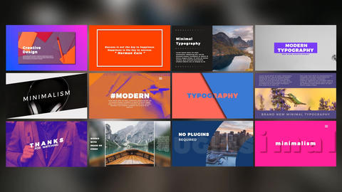 Modern Typography After Effects Template