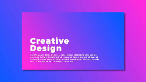 Modern Typography Animation Motion Graphics Template