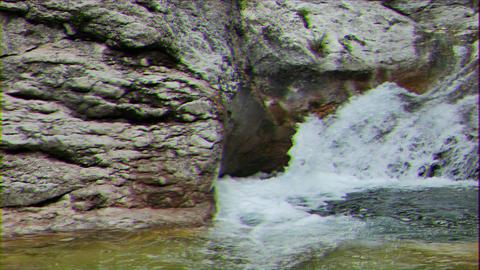 Glitch effect. Grand Canyon. Bath youth. Crimea Live Action