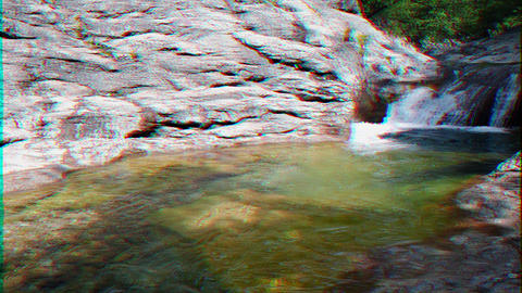 Glitch effect. Bath Youth, the Grand Canyon of Crimea Live Action