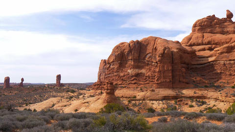 Arches National Park in Utah - famous landmark Live Action