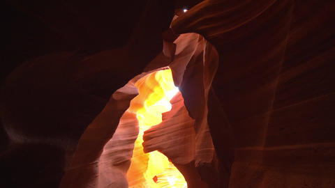 World famous Antelope Canyon - amazing scenery Footage