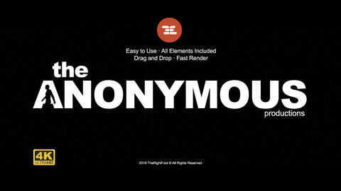 The Anonymous Logo After Effects Template