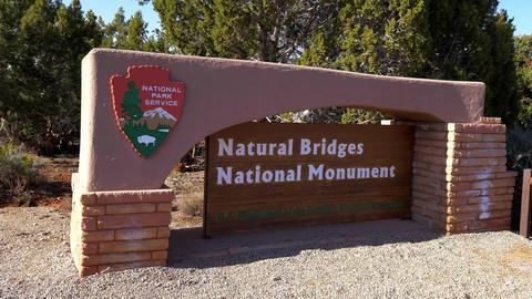 National Bridges National Monument - UTAH, USA - MARCH 20, 2019 Footage