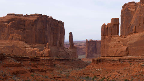 Arches National Park in Utah - famous landmark Live Action