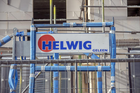 Billboard Helwig Company At Amsterdam The Netherlands 2019 Fotografía