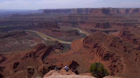 Famous Dead Horse Point in Utah - a tourist attraction - UTAH, USA - MARCH 20 Live Action
