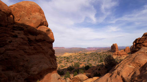 Amazing Scenery at Arches National Park in Utah Footage