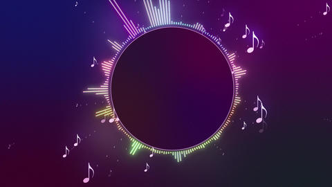 Audio Spectrum Music Visualizer 08 Animation