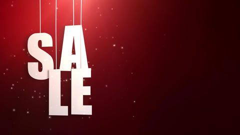 sales letter just hung on string with beautyful red background Animation