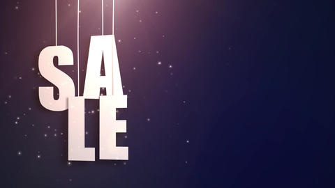 sales letter just hung on string with beautyful blue background Animation