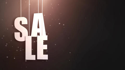 sales letter just hung on string with beautyful black background Animation