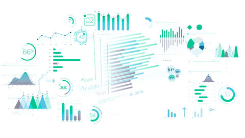 A set of decorative infographics Animation